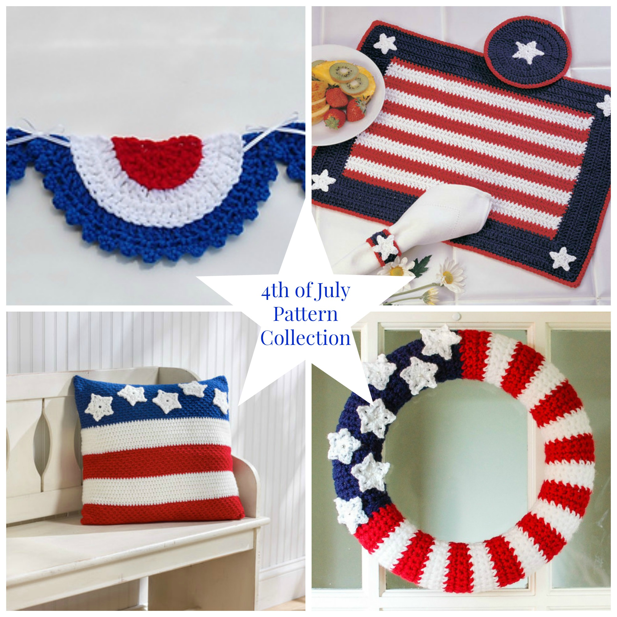 4th of July Crochet Patterns Round Up