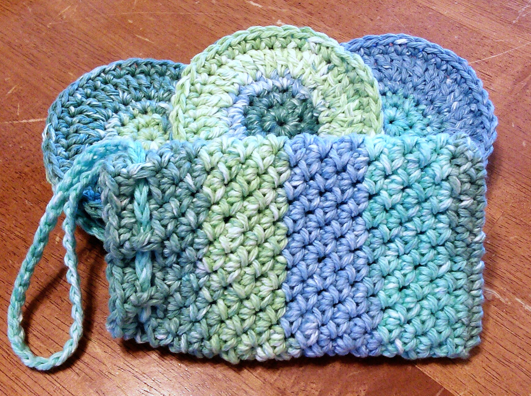 Face Scrubbies And Soap Pouch Spa Set Free Crochet Pattern Same