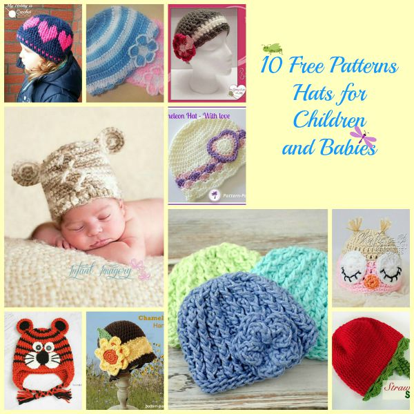 Hats for Children Collage