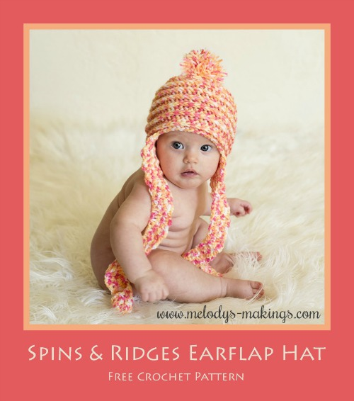 Spins and Ridges Earflap Hat