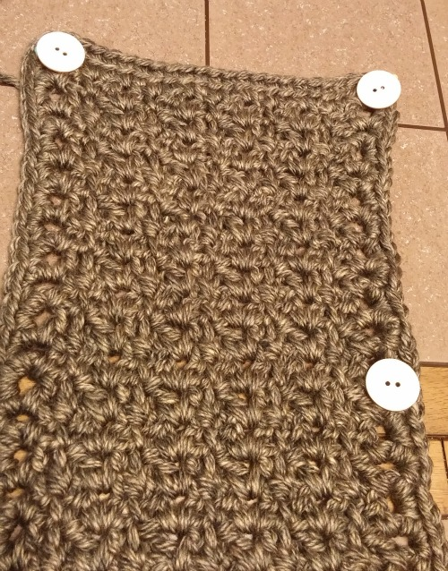 Aeris Buttoned Cowl with button placement