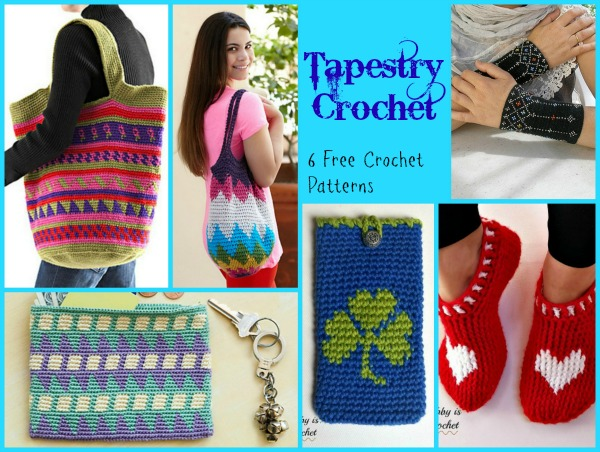 This tapestry crochet pattern compilation has patterns that will surely have folks talking and asking about your beautiful crocheted items.