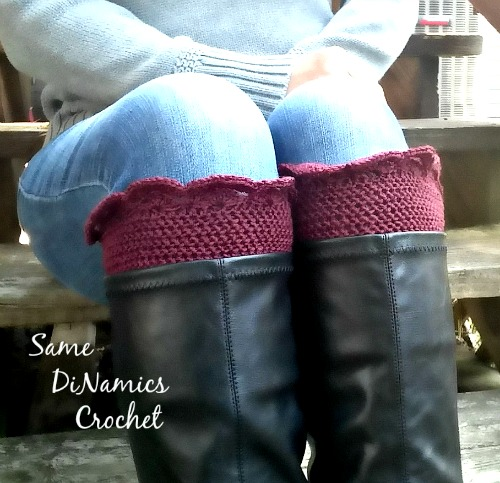 Arched Fans Boot Cuffs