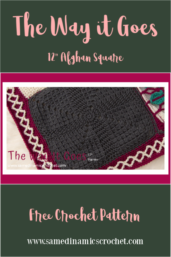 """The Way it Goes 12"""" Afghan Square Free Crochet Pattern"""