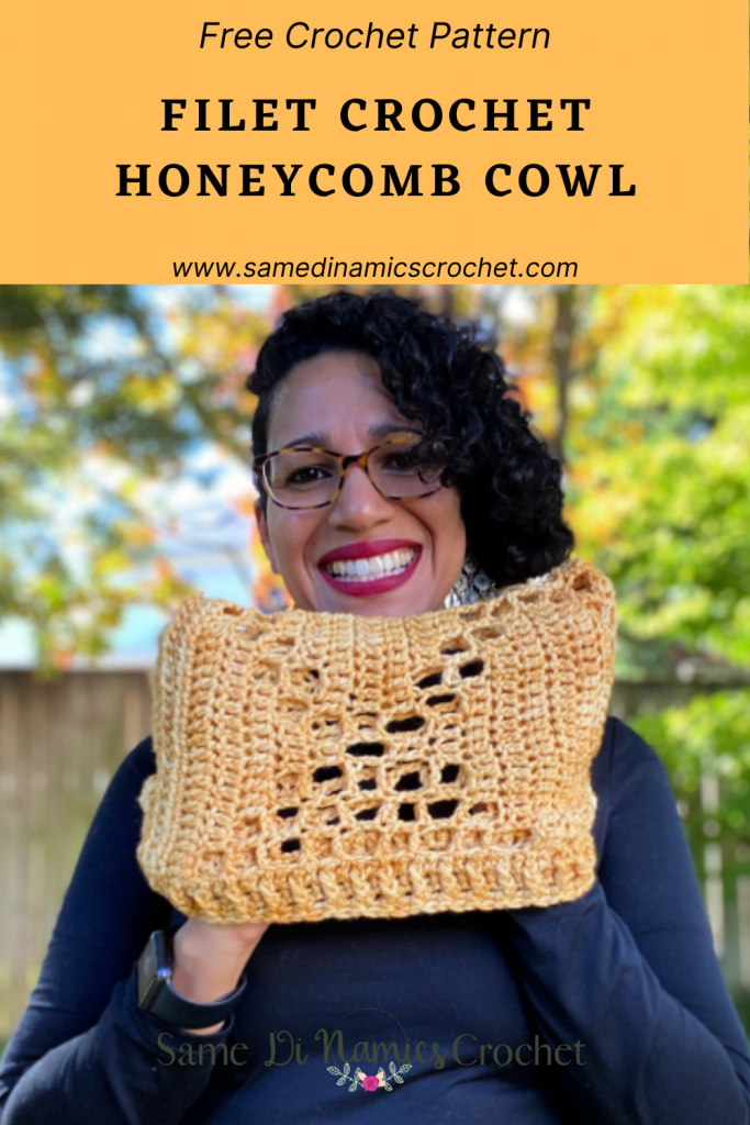 Filet Crochet Honeycomb Cowl Pattern