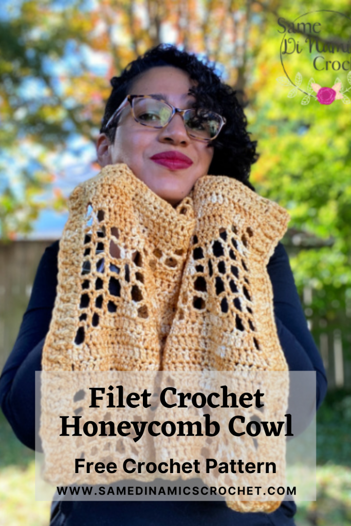 Free Crochet Pattern Filet Crochet Honeycomb Cowl