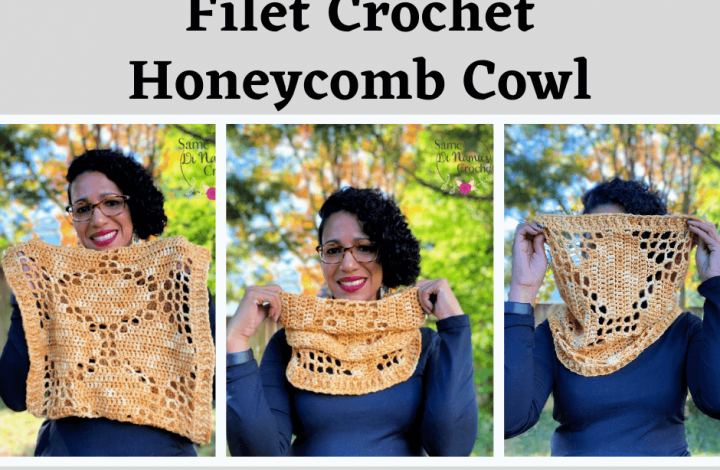 Filet Crochet Honeycomb Cowl Free Crochet Pattern